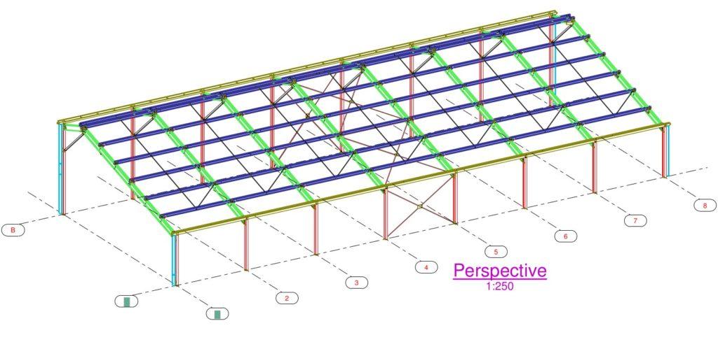 Hangar gratuit de 36 x 20.4 x 5 m